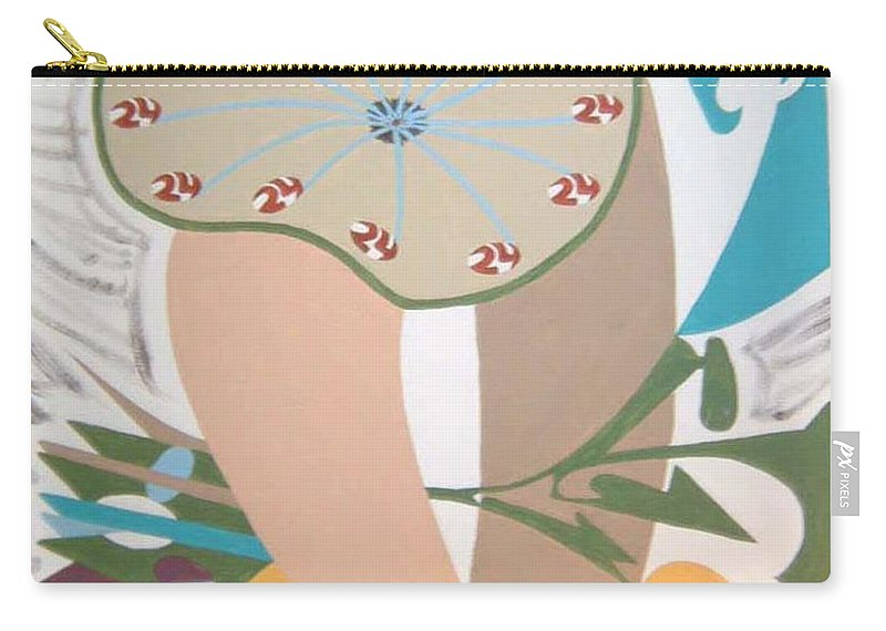 Abstract Carry-all Pouch featuring the painting Times Up by Dean Stephens