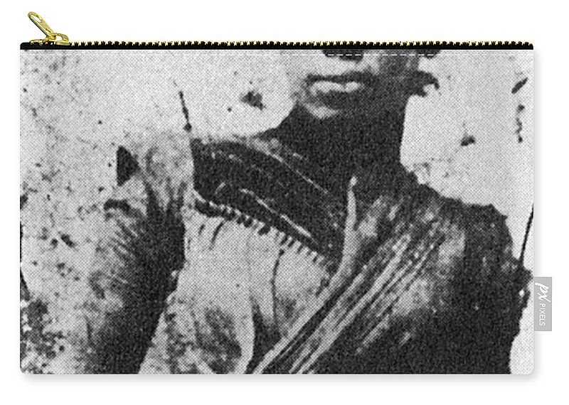 1875 Carry-all Pouch featuring the painting Tintype Woman, C1875 by Granger