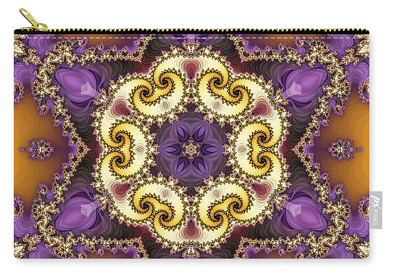 Fractal Carry-all Pouch featuring the digital art Tira by Richard Kelly