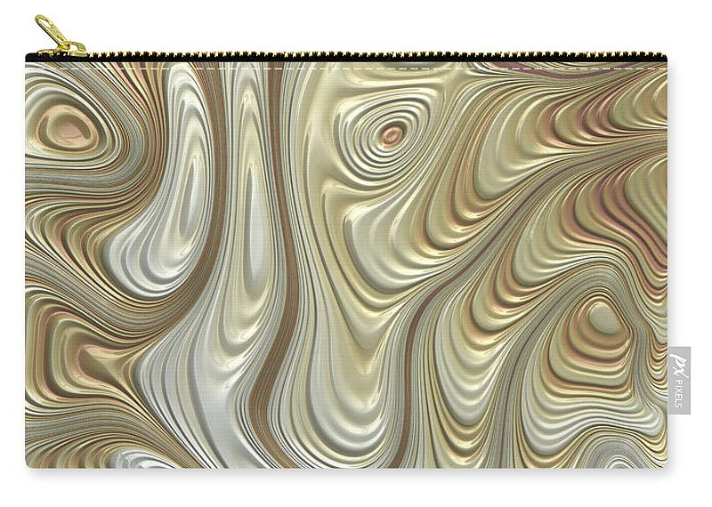 Titanium Abstract Carry-all Pouch featuring the digital art Titanium Flow by John Edwards