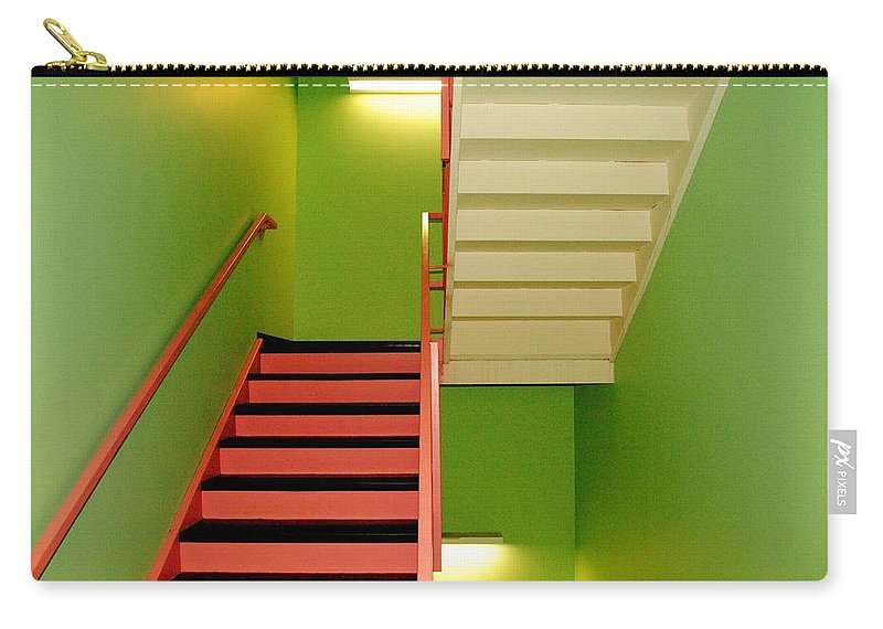 Stairwell Carry-all Pouch featuring the photograph To And Fro by Frozen in Time Fine Art Photography