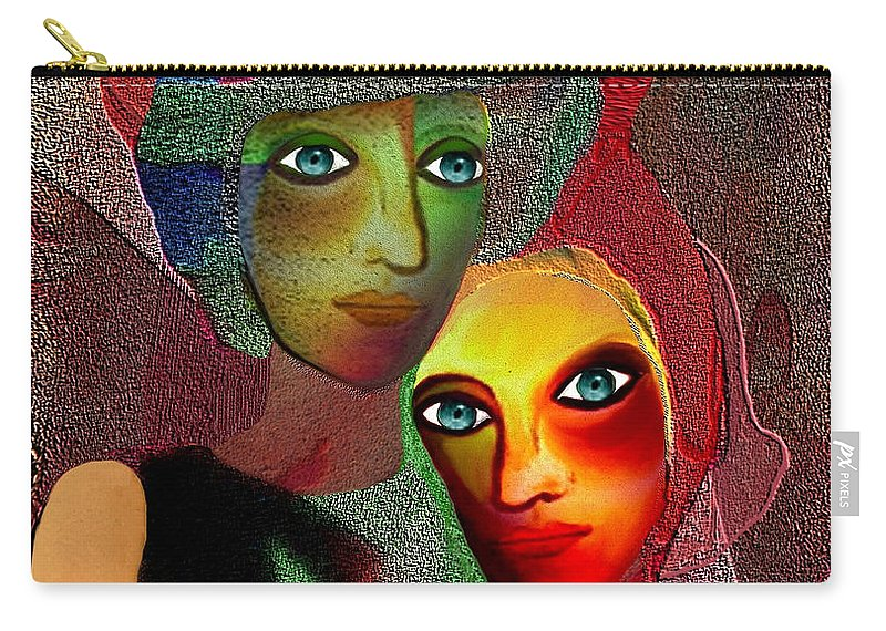 002 Carry-all Pouch featuring the painting 002 - To Lean On  by Irmgard Schoendorf Welch