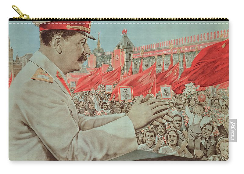 To Our Dear Stalin Carry-all Pouch featuring the painting To Our Dear Stalin by Russian School