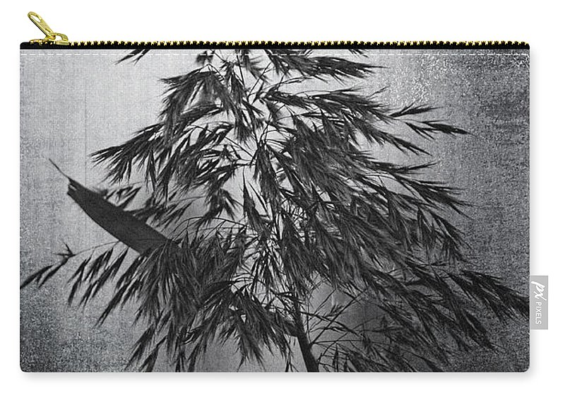 Black And White Carry-all Pouch featuring the photograph To Stand Alone by Georgiana Romanovna