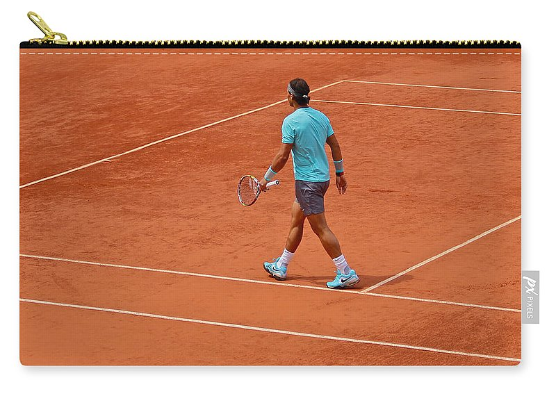 Rafa Carry-all Pouch featuring the photograph Rafael Nadal To The Baseline by Lexi Heft