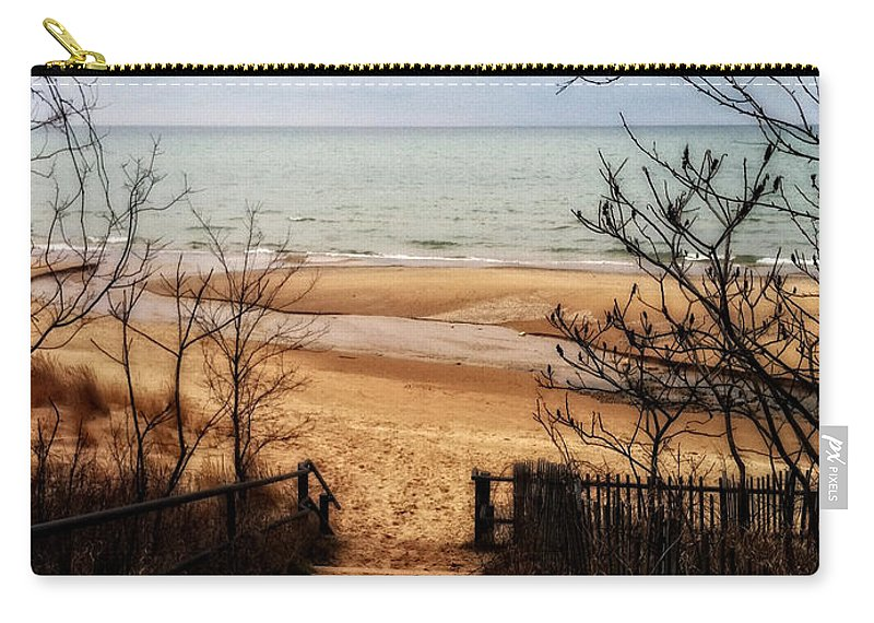 Michigan Carry-all Pouch featuring the photograph To The Beach by Michelle Calkins