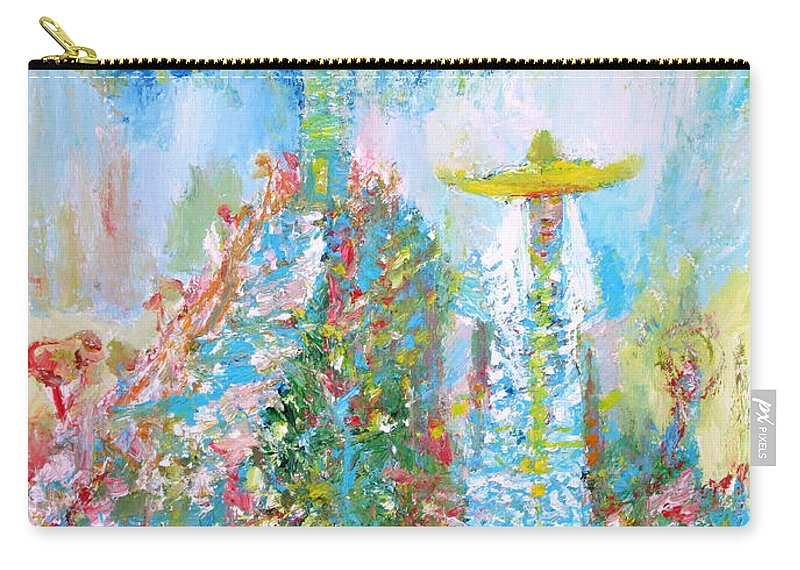 Woman Carry-all Pouch featuring the painting To The Lighthouse by Fabrizio Cassetta