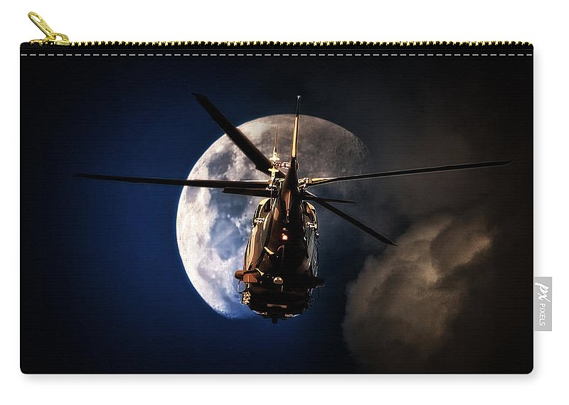 Agustawestland Aw109 Carry-all Pouch featuring the photograph To The Moon by Paul Job