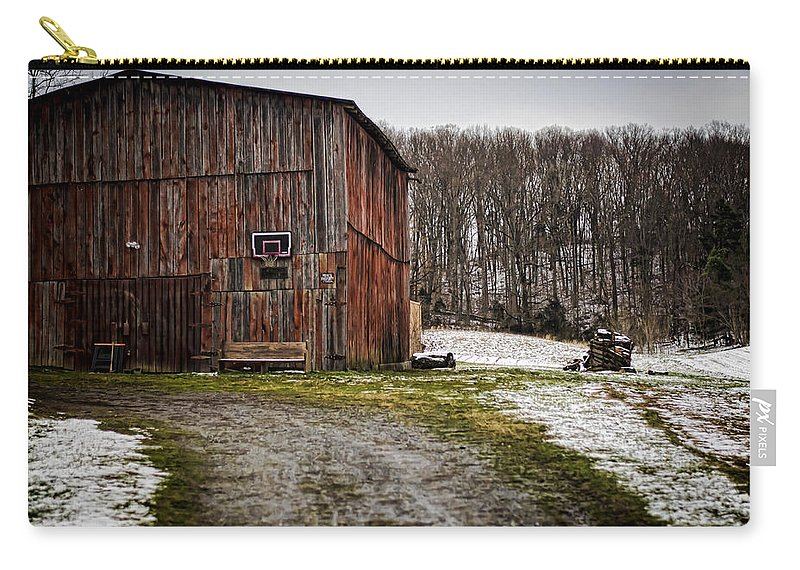 Tobacco Carry-all Pouch featuring the photograph Tobacco Barn by Heather Applegate
