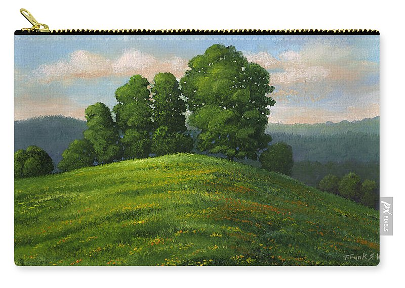 Landscape Carry-all Pouch featuring the painting Toboggan Hill by Frank Wilson