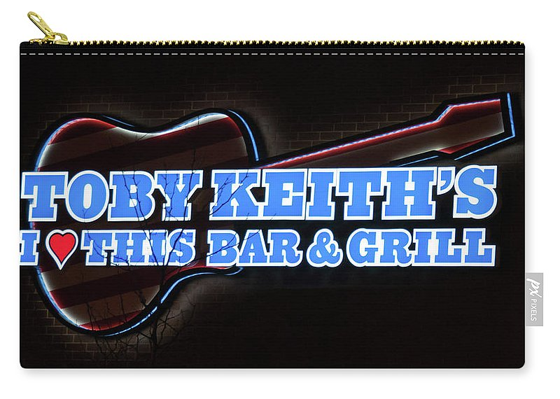 Bar & Grill Carry-all Pouch featuring the photograph Toby Keith's by Guy Whiteley