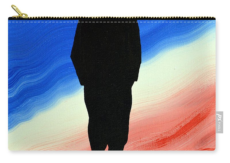 Us Military Carry-all Pouch featuring the painting Today's Soldier by Alys Caviness-Gober