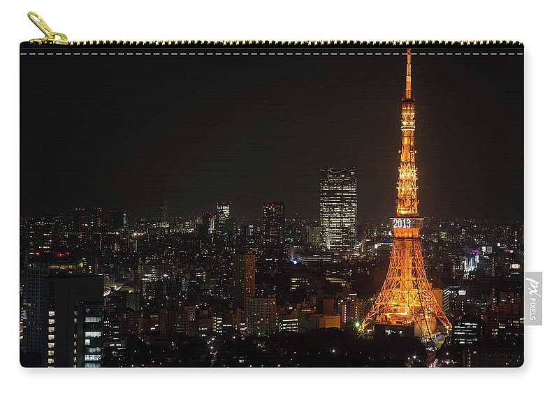 Tokyo Tower Carry-all Pouch featuring the photograph Tokyo Tower by Kkshm