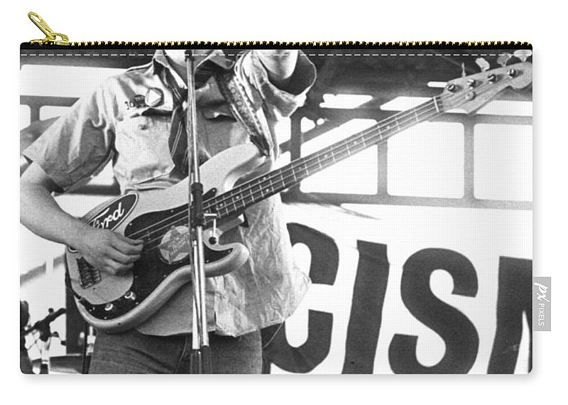 Tom Carry-all Pouch featuring the photograph Tom Robinson Band by David Fowler