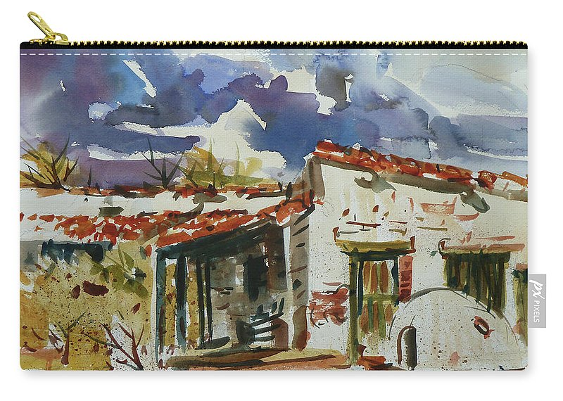 Landscape Carry-all Pouch featuring the painting Tom Sparacino - Our Art Instructor by Xueling Zou