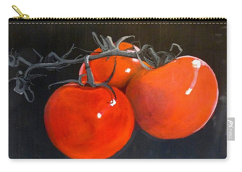 Tomatoes Carry-all Pouch featuring the painting Tomatoes by Richard Le Page