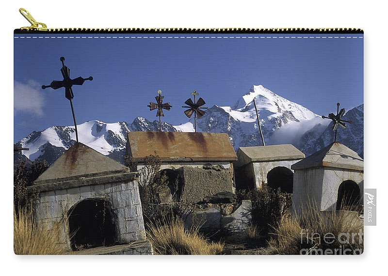 Bolivia Carry-all Pouch featuring the photograph Tombs With A View by James Brunker