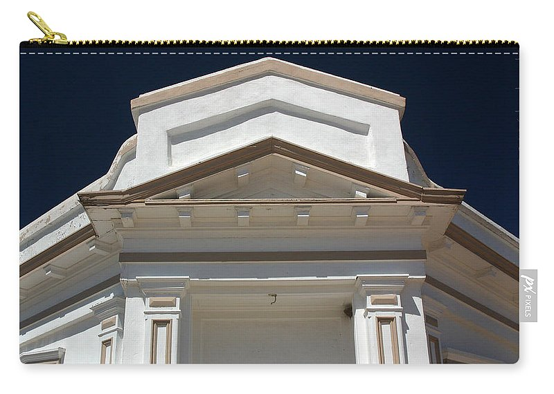 Tombstone Carry-all Pouch featuring the photograph Tombstone Courthouse by Joe Kozlowski