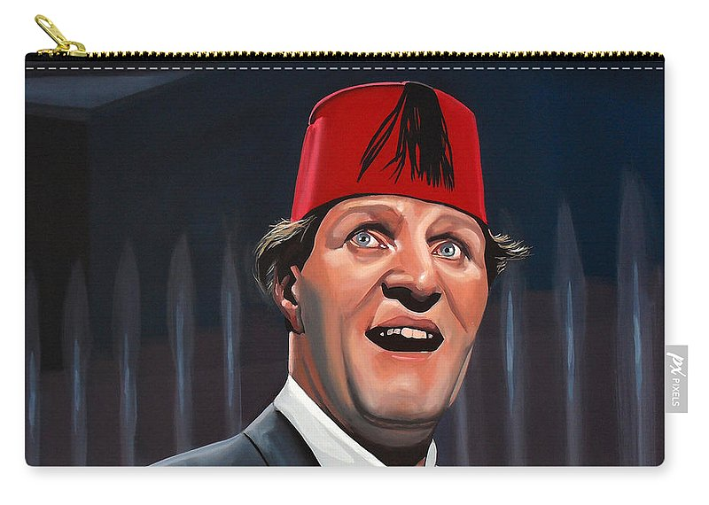 Tommy Cooper Carry-all Pouch featuring the painting Tommy Cooper by Paul Meijering