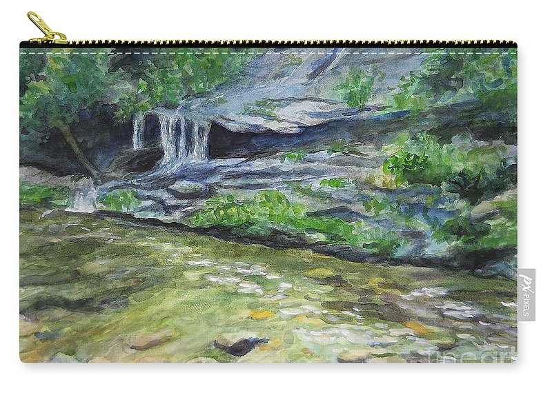Tom Branch Falls Carry-all Pouch featuring the painting Tom Branch Falls by Sheena Kohlmeyer