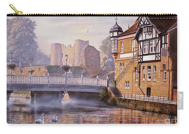 Steve Crisp Carry-all Pouch featuring the digital art Tonbridge Castle by Steve Crisp