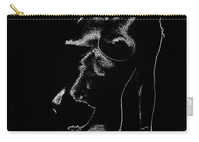 Nude Carry-all Pouch featuring the photograph Tone-line Form by Paul W Faust - Impressions of Light