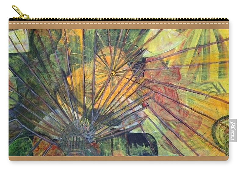Village In China Carry-all Pouch featuring the painting Tongli Town by Peggy Blood