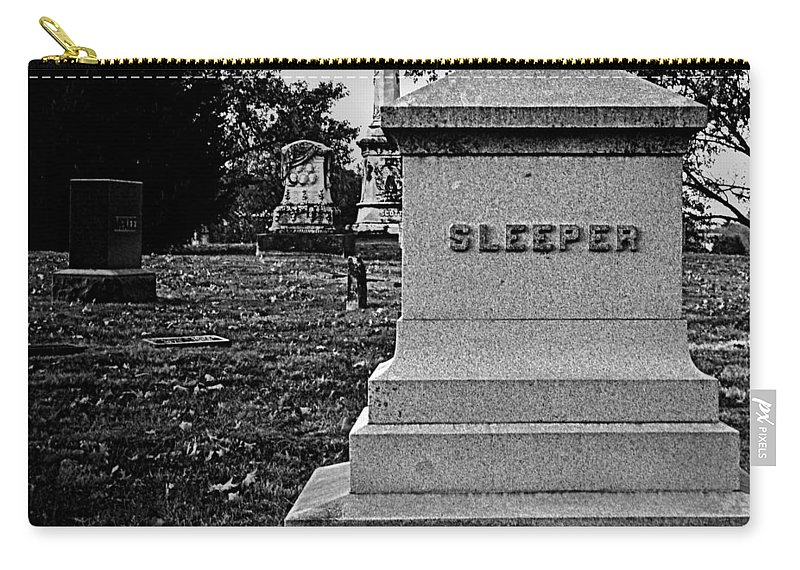 Cemetery Carry-all Pouch featuring the photograph Too Ironic by Chris Berry