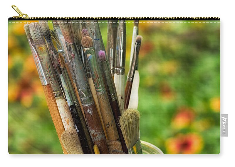 Artist Carry-all Pouch featuring the photograph Tools Of The Painter by David Kay