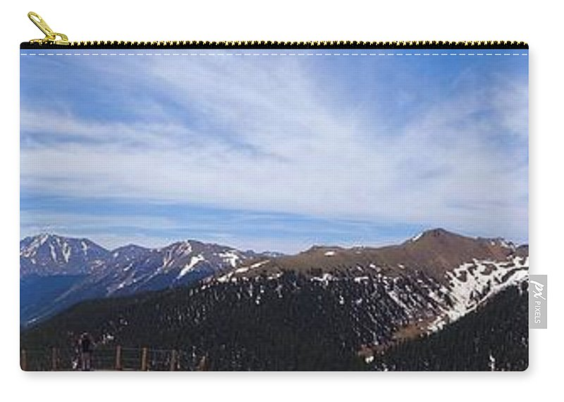Top Of Independence Pass Panorama Carry-all Pouch featuring the photograph Top Of Independence Pass Panorama by Dan Sproul