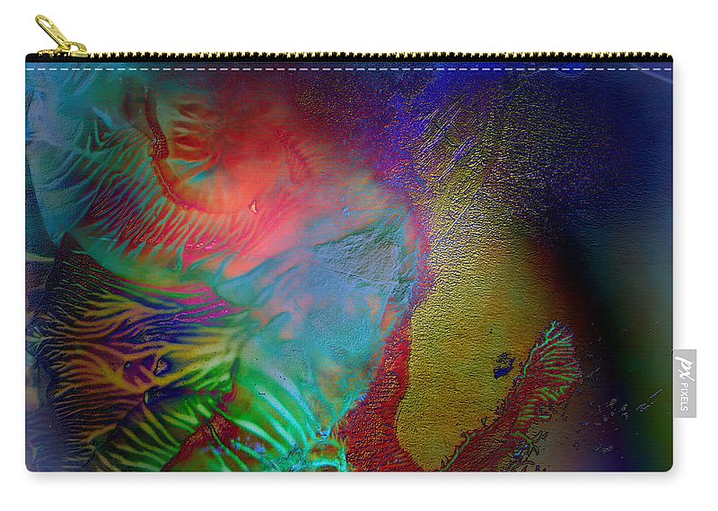 Surrealism Carry-all Pouch featuring the digital art Topology Of Decalcomania by Otto Rapp