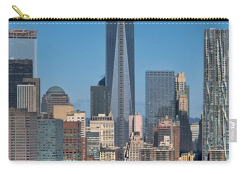 1wtc Carry-all Pouch featuring the photograph Topping Out by S Paul Sahm