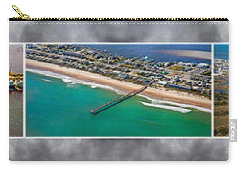 Topsial Carry-all Pouch featuring the photograph Topsail Island Aerial Panels II by Betsy Knapp