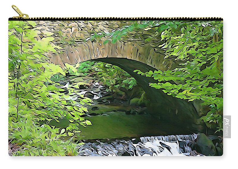 Killarney Carry-all Pouch featuring the photograph Torc Bridge by Charlie and Norma Brock