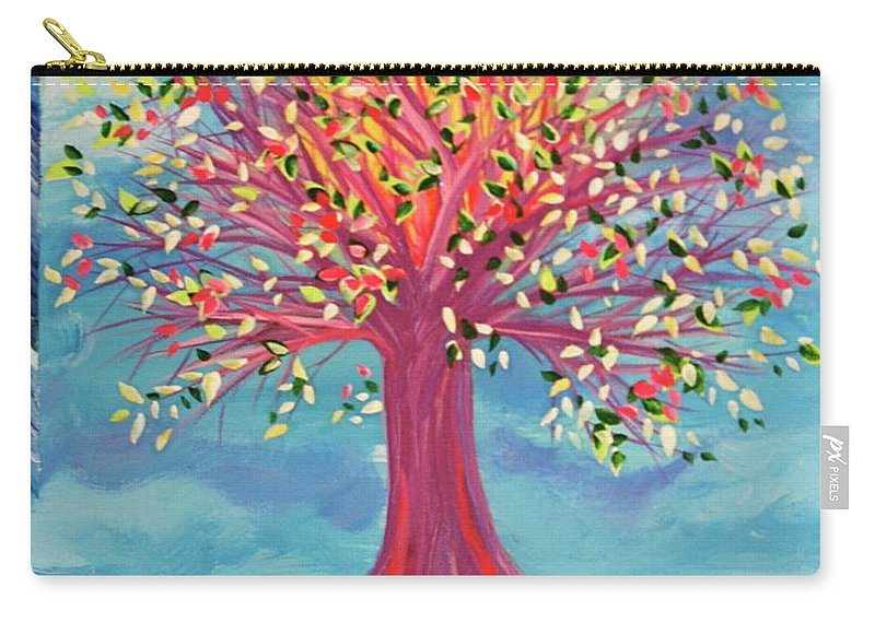 Tree Carry-all Pouch featuring the painting Tori's Tree By Jrr by First Star Art