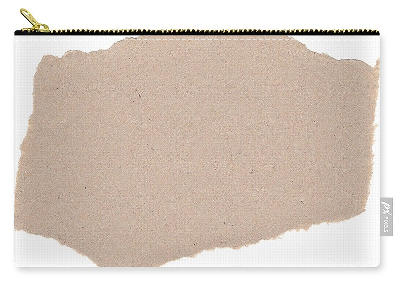 Blank Carry-all Pouch featuring the photograph Torn Paper by Tim Hester