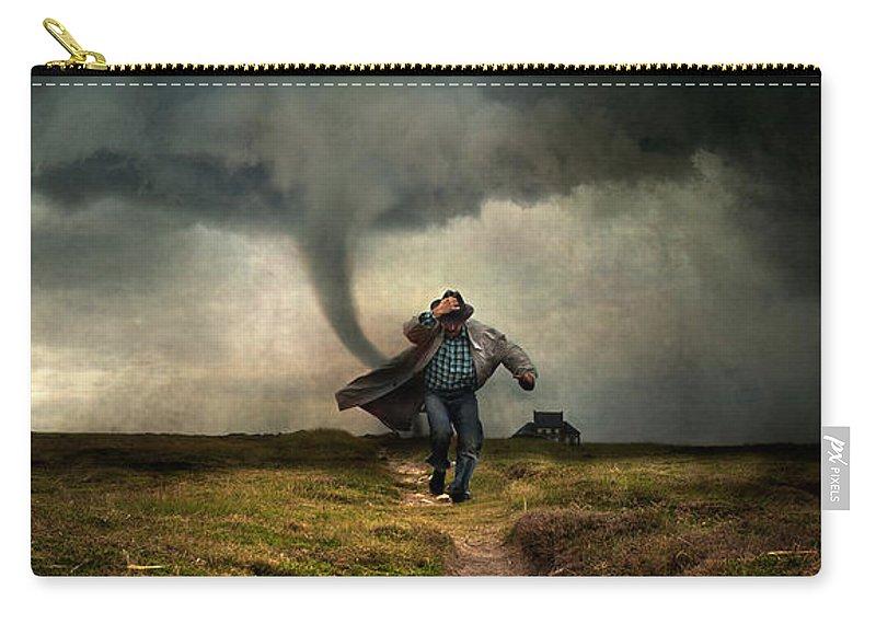 Tornado Carry-all Pouch featuring the photograph Tornado by Jaroslaw Blaminsky