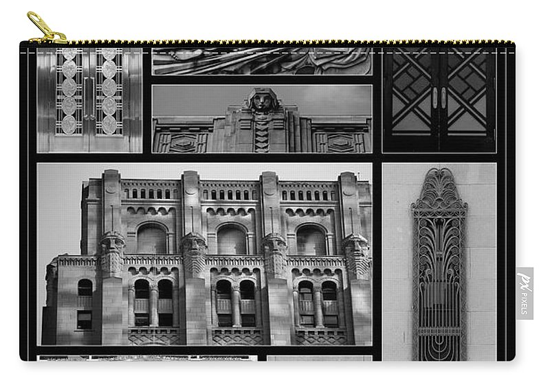 Toronto Carry-all Pouch featuring the photograph Toronto Art Deco 1 by Andrew Fare
