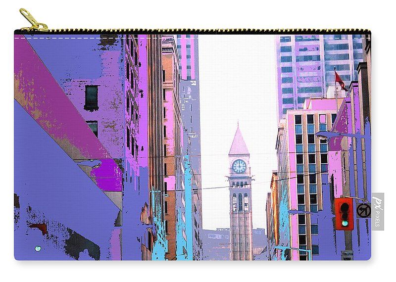 Bay Carry-all Pouch featuring the photograph Toronto Old City Hall by Ian MacDonald