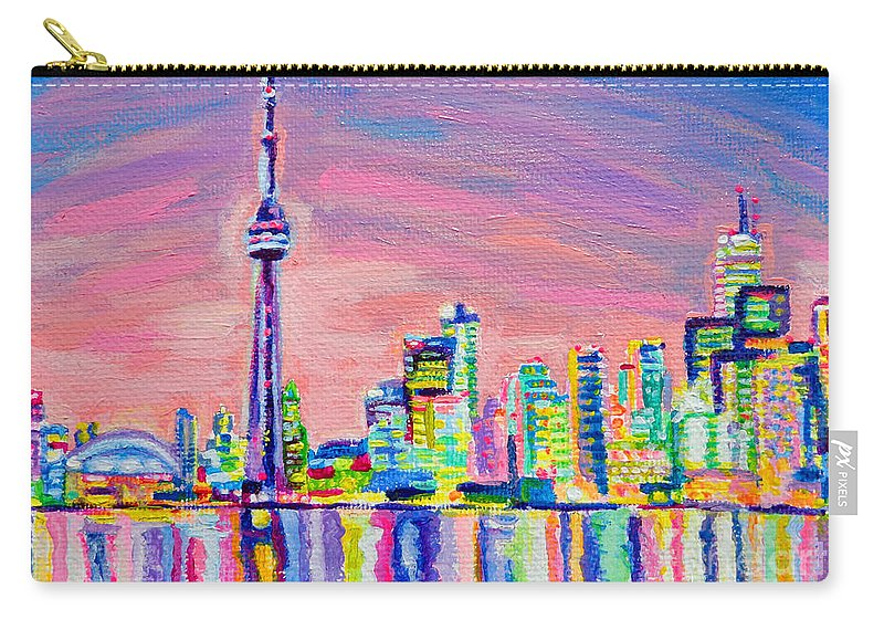 Toronto Carry-all Pouch featuring the painting Toronto Skyline by Morgan Ralston