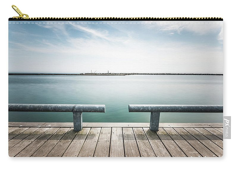 Scenics Carry-all Pouch featuring the photograph Torontos Lakeside by Www.piotrhalka.com