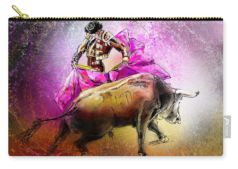 Animals Carry-all Pouch featuring the painting Toroscape 38 by Miki De Goodaboom