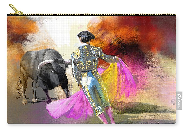 Animals Carry-all Pouch featuring the painting Toroscape 43 by Miki De Goodaboom