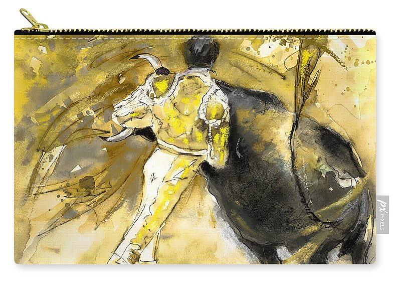 Culture Carry-all Pouch featuring the painting Toroscape 66 by Miki De Goodaboom