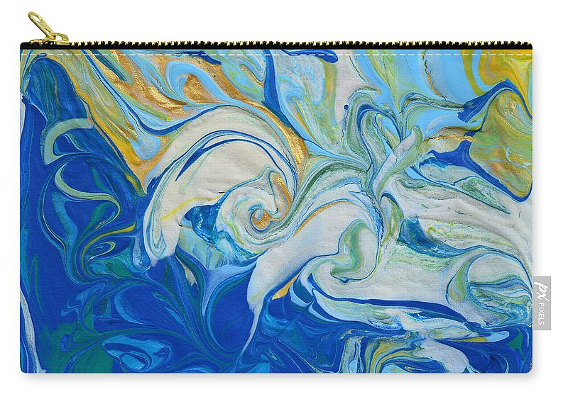 Waves Carry-all Pouch featuring the painting Tossed In The Waves by Donna Blackhall