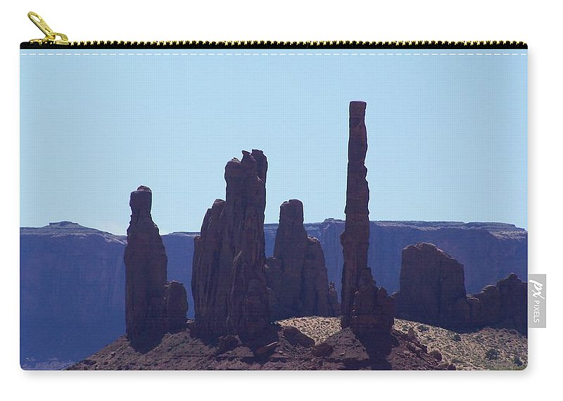 Monument Valley Carry-all Pouch featuring the photograph Totem Pole In Monument Valley by Dany Lison