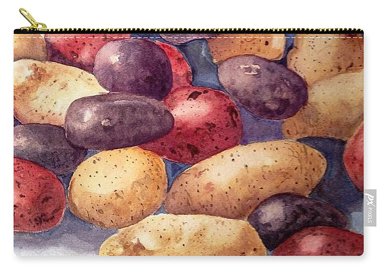 Potatoes Carry-all Pouch featuring the painting Tots by Nicole Curreri
