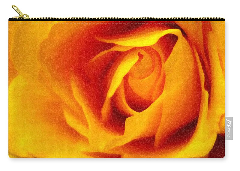 Flower Carry-all Pouch featuring the photograph Touch of Hope - Digital Painting Effect by Rhonda Barrett