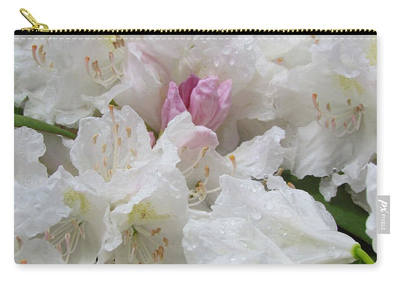 Rhododendron Carry-all Pouch featuring the photograph Touch Of Pink by Elizabeth Dow