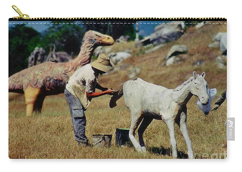 Touch Up Carry-all Pouch featuring the photograph Touch Up by John Malone
